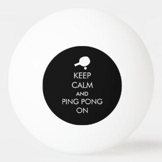 Guarde el ping-pong tranquilo encendido pelota de tenis de mesa