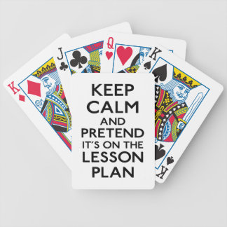 Guarde el plan de lección tranquilo baraja cartas de poker
