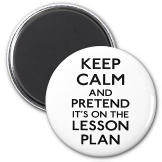 Guarde el plan de lección tranquilo iman