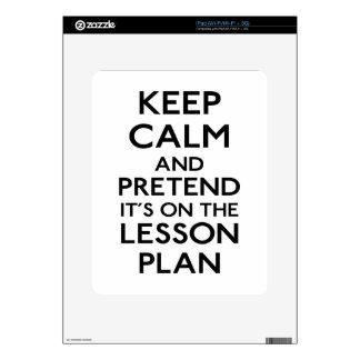 Guarde el plan de lección tranquilo iPad skin