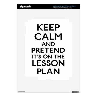 Guarde el plan de lección tranquilo pegatinas skins para iPad 3