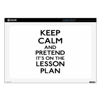 Guarde el plan de lección tranquilo calcomanía para portátil