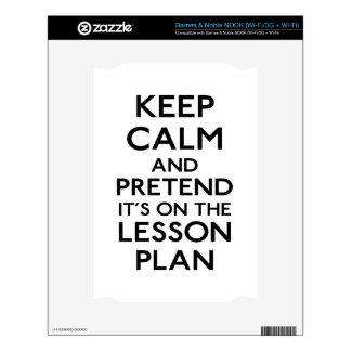 Guarde el plan de lección tranquilo calcomanía para el NOOK