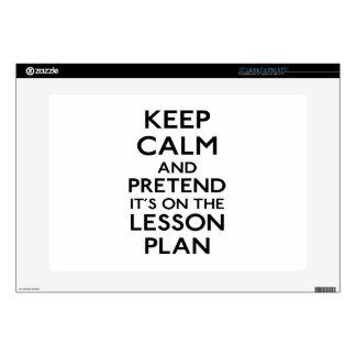 Guarde el plan de lección tranquilo skins para portátiles