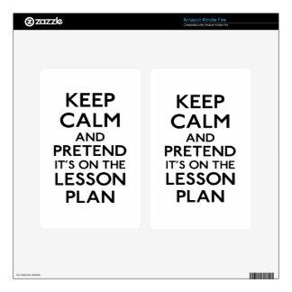 Guarde el plan de lección tranquilo skins para kindle fire
