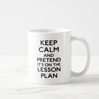 Guarde el plan de lección tranquilo tazas