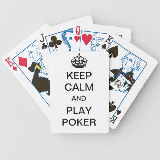 ¡Guarde el póker de la calma y del juego!!! Cartas De Juego