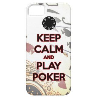 guarde el póker de la calma y del juego iPhone 5 Case-Mate cárcasas