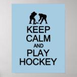 Guarde el poster de encargo del color del hockey d