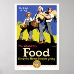 Guarde el poster de la guerra del vintage del jard