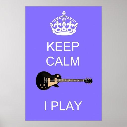 Guarde el poster de la guitarra 36 x 24 del juego
