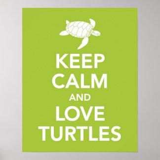Guarde el poster de la impresión de las tortugas d