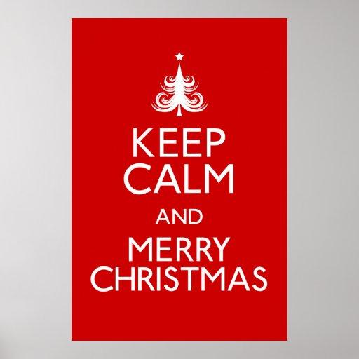Guarde el poster de las Felices Navidad tranquilas