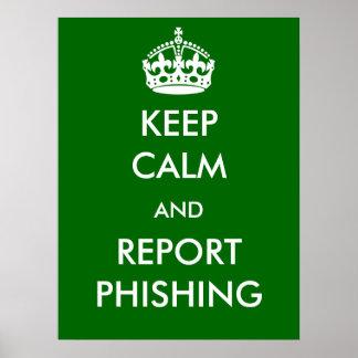 Guarde el poster de Phishing de la calma y del inf