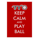 Guarde el poster del béisbol de la bola el   de la