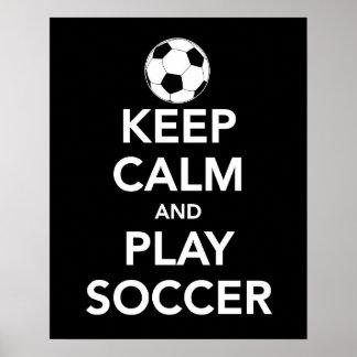 Guarde el poster del fútbol de la calma y del jueg
