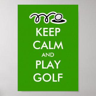 Guarde el poster del golf de la calma y del juego