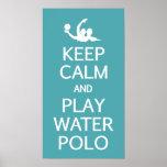 Guarde el poster del personalizado del water polo póster