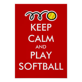 Guarde el poster del softball de la calma y del ju