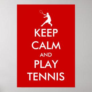 Guarde el poster del tenis de la calma y del juego