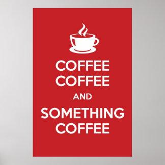 Guarde el poster tranquilo del café