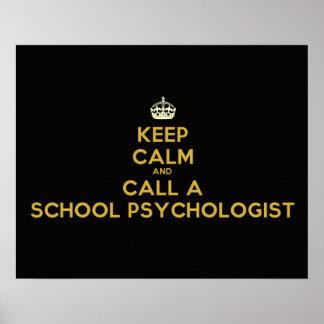 Guarde el poster tranquilo del psicólogo de la esc