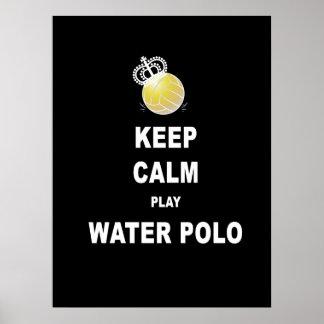 Guarde el poster tranquilo del water polo del jueg