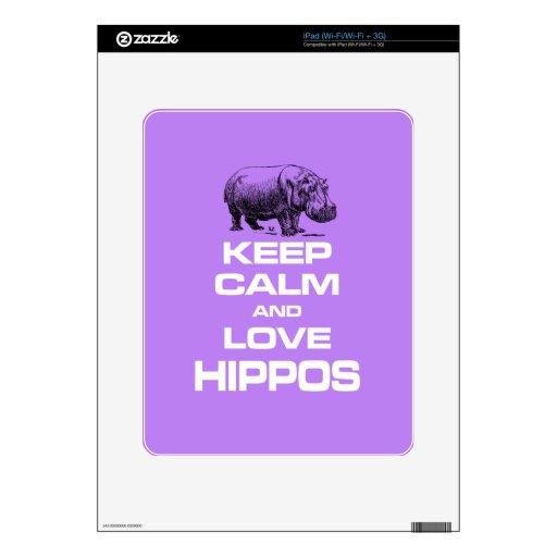 Guarde el regalo de la calma y del diseño de Hippo Skin Para El iPad