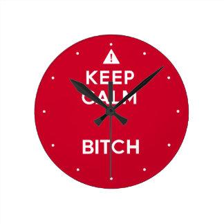 Guarde el reloj de pared divertido de la parodia t