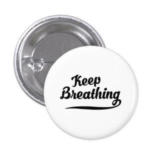 Guarde el respirar pin redondo de 1 pulgada