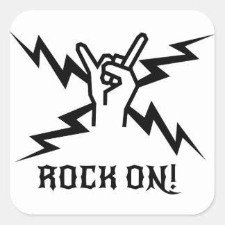 Guarde el Rockin'! Pegatina Cuadrada