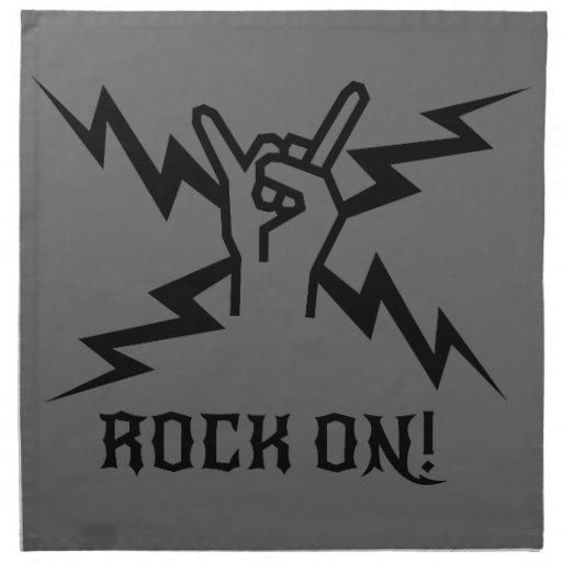 Guarde el Rockin'! Servilletas Imprimidas