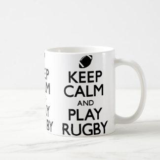 Guarde el rugbi de la calma y del juego (continúe) tazas