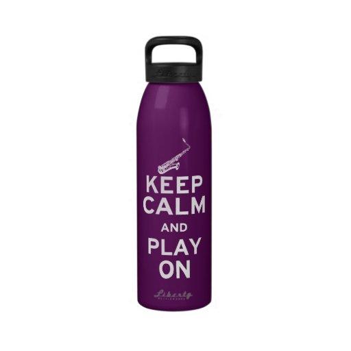 Guarde el saxofón tranquilo botellas de agua reutilizables