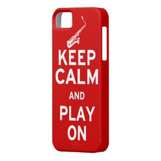 Guarde el saxofón tranquilo iPhone 5 carcasa