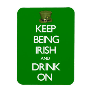 Guarde el ser irlandés iman de vinilo
