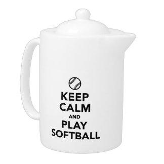 Guarde el softball de la calma y del juego