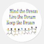 Guarde el sueño etiquetas redondas