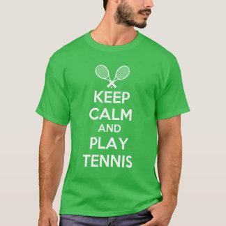 guarde el tenis de la calma y del juego playera