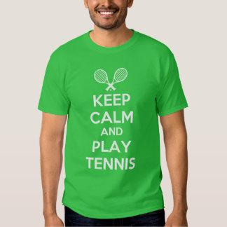 guarde el tenis de la calma y del juego poleras
