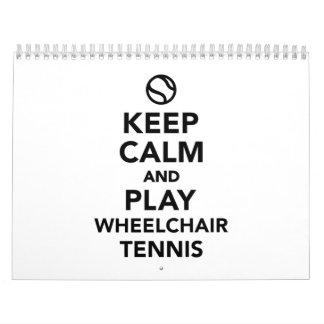 Guarde el tenis de la silla de ruedas de la calma calendarios de pared