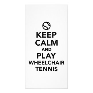 Guarde el tenis de la silla de ruedas de la calma tarjetas fotograficas personalizadas