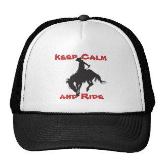 Guarde el tipo de caballo salvaje tranquilo gorros bordados