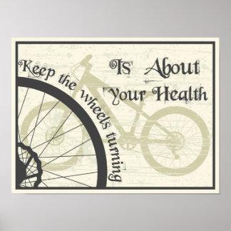 Guarde el torneado de la rueda póster