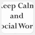 Guarde el trabajo tranquilo y social encendido