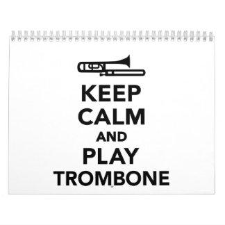 Guarde el Trombone de la calma y del juego Calendarios De Pared