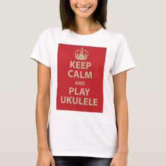 Guarde el Ukulele de la calma y del juego Playera