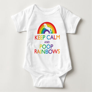 Guarde el unicornio de los arco iris de la calma y body para bebé