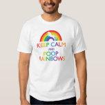 Guarde el unicornio de los arco iris de la calma y camisas