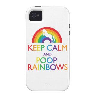 Guarde el unicornio de los arco iris de la calma y iPhone 4/4S carcasas